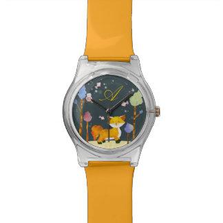 Woodland Fox Customizable Monogram May28 Watch