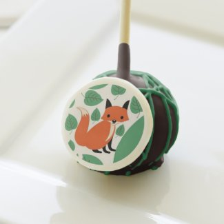 Woodland fox cute retro whimsical hipster fox cake pops
