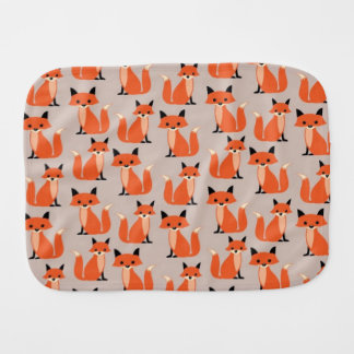 Woodland fox cute retro whimsical hipster foxes baby burp cloth