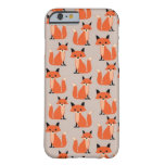 Woodland fox cute retro whimsical hipster foxes barely there iPhone 6 case