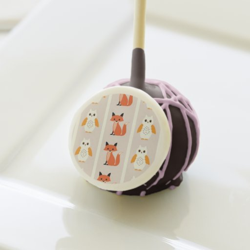 Woodland fox cute retro whimsical hipster foxes cake pops