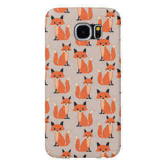 Woodland fox cute retro whimsical hipster foxes samsung galaxy s6 case
