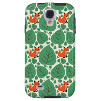 Woodland fox cute whimsical hipster foxes retro galaxy s4 case
