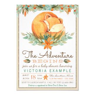 Woodland Fox Fall Autumn Baby Shower Invitations