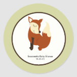Woodland Fox Favor Stickers 3-inch