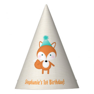 Woodland Fox Party Hat