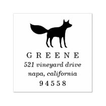 Woodland Fox Return Address Stamp