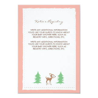 Woodland Friends Baby Shower Insert Card Invitations