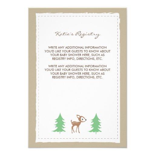 Woodland Friends Baby Shower Insert Card