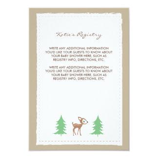 Woodland Friends Baby Shower Insert Card Invite