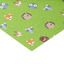 Woodland Friends - Fox Bear Raccoon Hedgehog Deer Tissue Paper