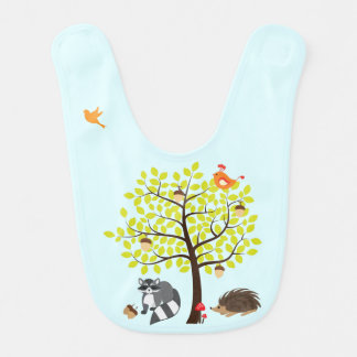 Woodland Friends Nature Picnic Baby Bib