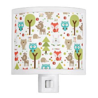Woodland Friends Nursery Night Lights