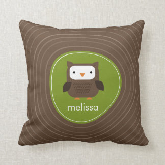 Woodland Friends Owl American MoJo Pillow