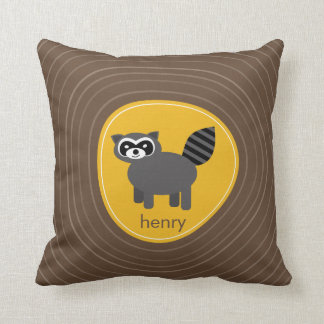 Woodland Friends Raccoon American MoJo Pillow