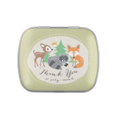 Woodland Friends Thank You Candy Tin at Zazzle