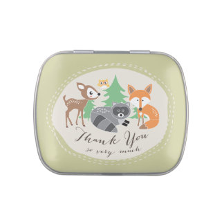 Woodland Friends Thank You Candy Tin