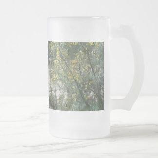 Woodland Frosted Glass Beer Mug