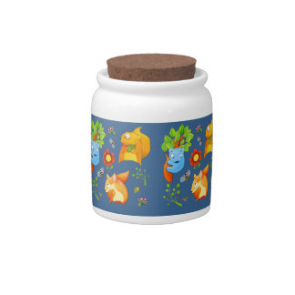 Woodland Fun blue Candy Jar