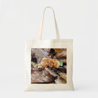 Woodland Fungus On Branch Tote Bag