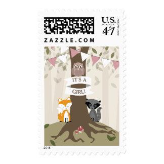 Woodland Girl Baby Postage