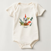 Woodland Gnome - Personalized Baby Bodysuit