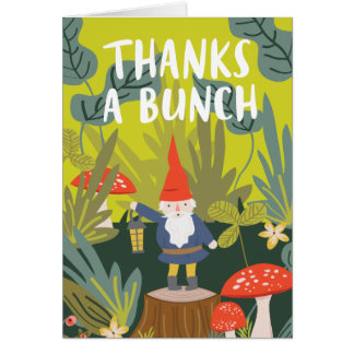 Woodland Gnome Thank You Card