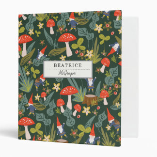 Woodland Gnomes 3 Ring Binder