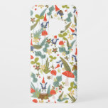 "Woodland Gnomes Case-Mate Samsung Galaxy S9 Case<br><div class=""desc"">Whimsical green and red woodland themed pattern designed by Shelby Allison featuring tiny gnome characters,  mushrooms,  flowers and foliage.</div>"