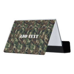 Camo business card holders cases zazzle woodland green camouflage pattern desk business card holder colourmoves