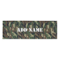 Woodland Green Camouflage  Pattern Name Tag