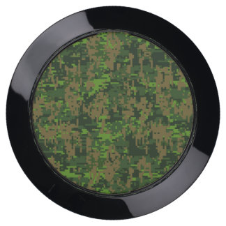 Woodland Green Digital Camouflage Decor on a USB Charging Station