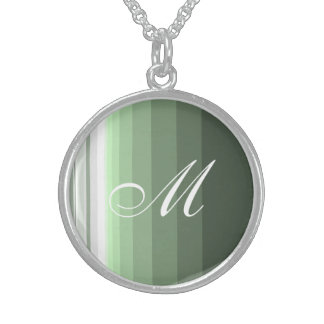 Woodland Green Sterling Silver Necklace