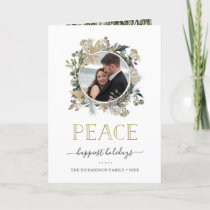 Woodland Harvest | Peace with your Photo Holiday Card