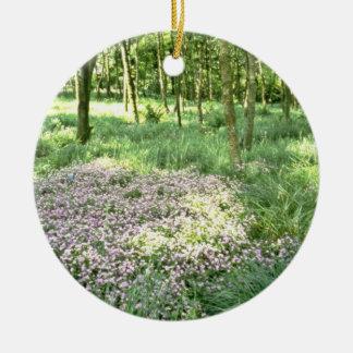 Woodland, Hebden Bridge, West Yorkshire  flowers Ornament