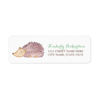 Woodland Hedgehog Address Label