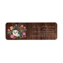 Woodland Hedgehog Return Address Labels