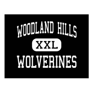Woodland Hills - Wolverines - High - Pittsburgh Postcard