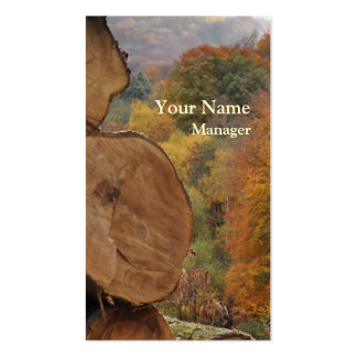 Woodland in autumn business card