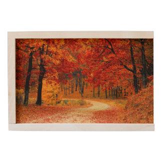 Woodland in Fall Wooden Keepsake Box