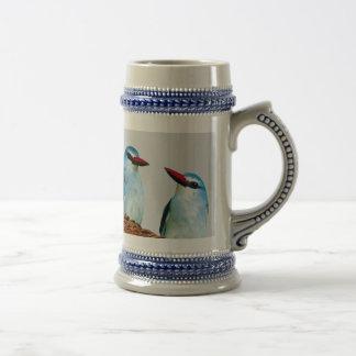 Woodland Kingfisher birds Beer Stein