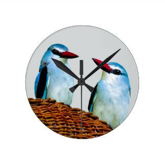Woodland Kingfisher birds Round Clock