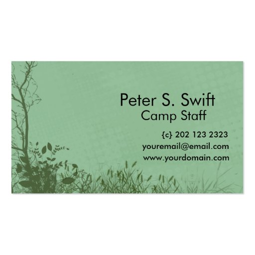 Woodland Landscape Nature Business Card