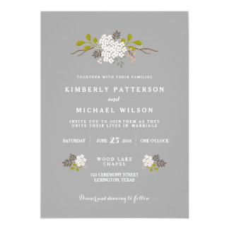 Woodland Love Floral Wedding Invitation