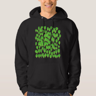 Woodland Map - Shades of Green Hoodie