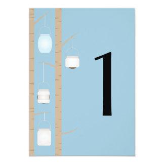 Woodland Mason Jar Table Number Card