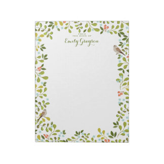 Woodland Meadow Personalized Social Stationery Notepad
