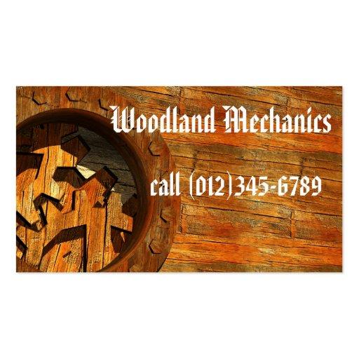 Woodland Mechanics Business Card