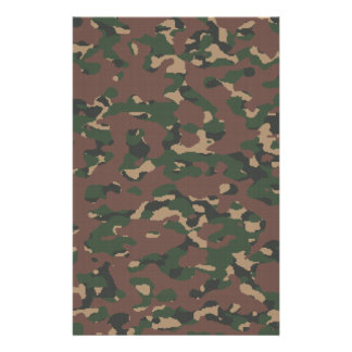 Woodland Military Camouflage. Soldier Veteran Army Stationery