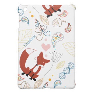 Woodland Modern Fox Woodland Acorn Leaf iPad Mini iPad Mini Cases